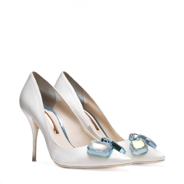 Sophia Webster Bridal Lola Gem Ivory Pump 2