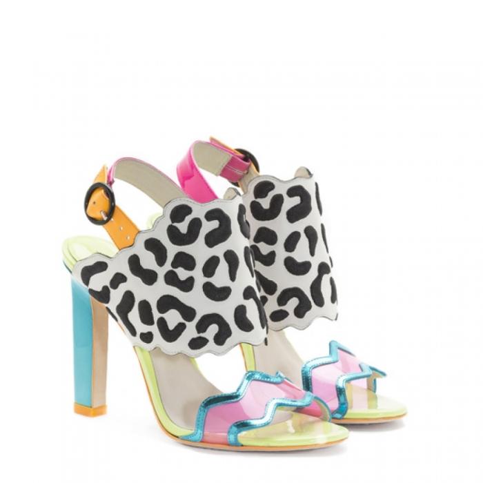 Sophia Webster Dionne Black Leopard Sandal 2
