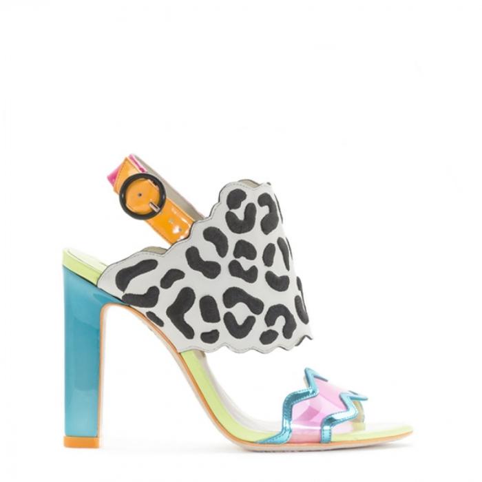 Sophia Webster Dionne Black Leopard Sandal