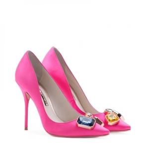 Sophia Webster Lola Gem Hot Pink Pump 2