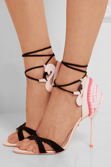 Sophia Webster Flamingo Frill Sandals