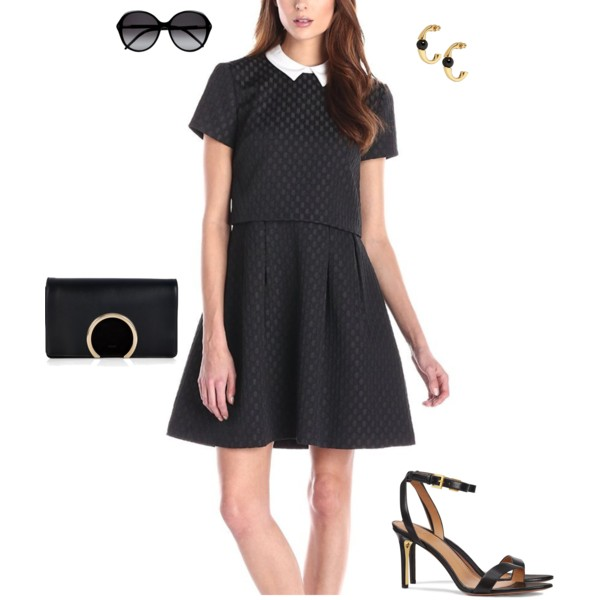 Jacquard Collar Dress
