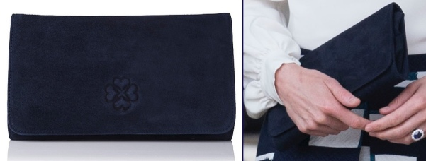 Kate-Heads-Together-Launch-Navy-Suede-LK-Bennett-Frome-Clutch-May-16-2016