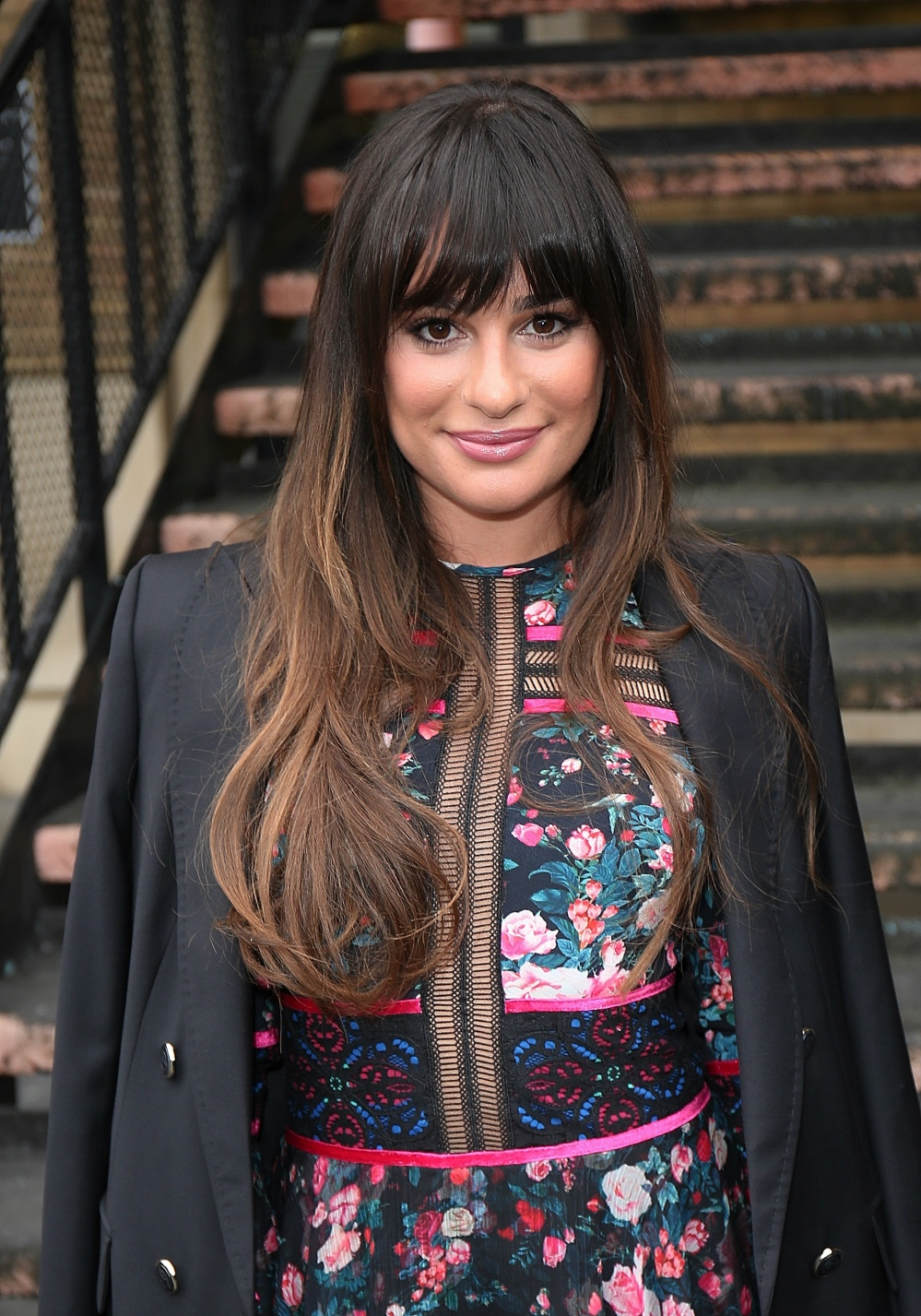 EXC: Lea Michele arrives at the Sunday Brunch studios in London