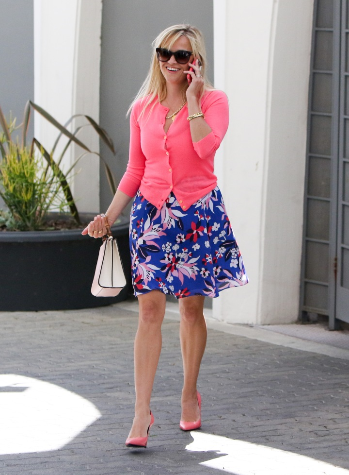 Reese Witherspoon spotted in floral print while out in Los Angeles