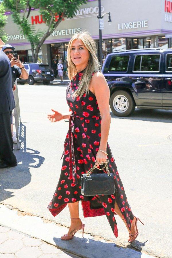 Jennifer-Aniston-Proenza-Schouler-Printed-Dress